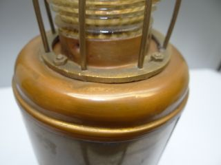 Antique Metal Brass Glass Galbraith Electric Water Light Type M Nautical Lantern photo