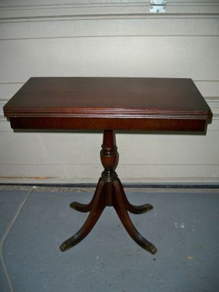 Vintage Duncan Phyfe Game Table Mahgany Claw Feet photo