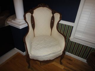 Set Of Antique Fireside Chairs photo