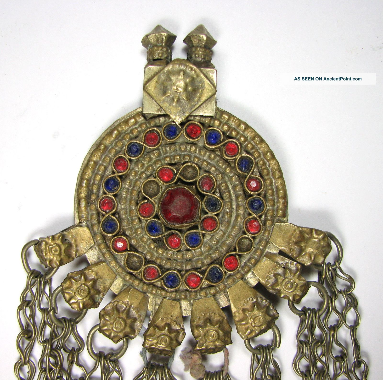 Pc2004uk A Nomadic / Bedouin Pendant Decorated Hand Made Old 153q Near Eastern photo