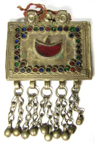 Pc2004uk A Nomadic / Bedouin Pendant Decorated Hand Made Old 154q photo