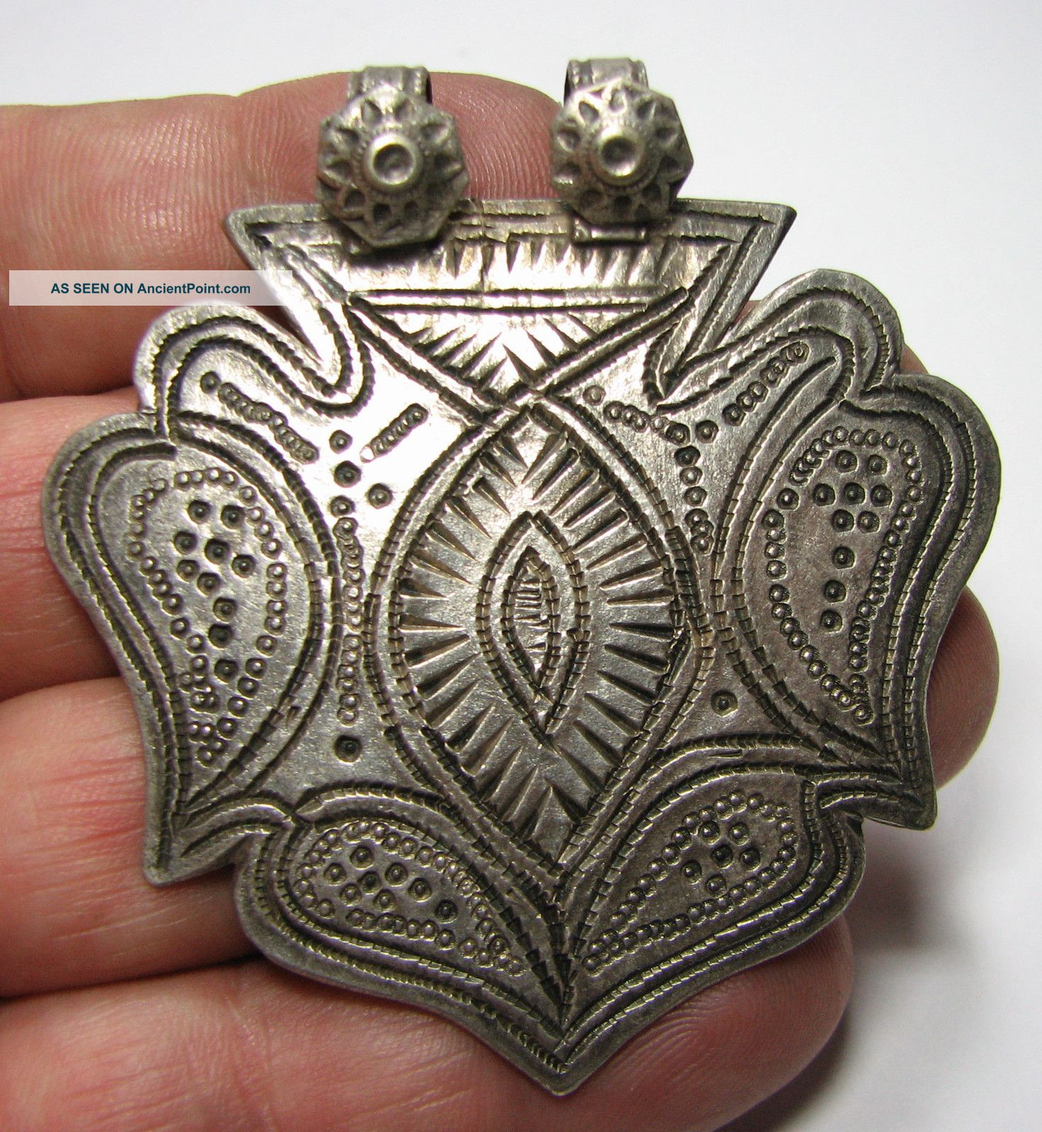 Pc2004uk A Nomadic / Bedouin Pendant Decorated Hand Made Old 155q Near Eastern photo