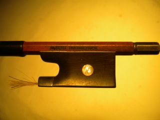 Old/antique German Violin Bow Branded Albert Nurnberger Silver/ebony Frog C.  1920 photo
