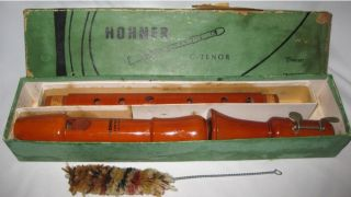 Hohner Konzert Germany C - Tenor Recorder Baroque Vtg photo