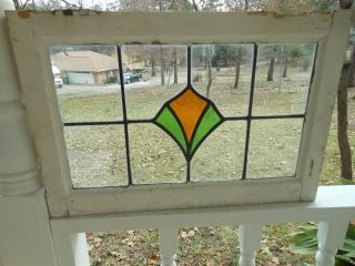 A171 Pretty Multi - Color Transom Style Leaded Stained Glass Window From England photo
