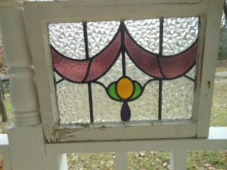 R451 Pretty Multi - Color Leaded Stained Glass Window From England,  4 Available photo