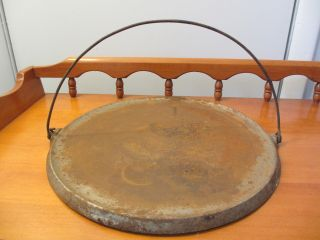 Vintage Antique Griswold Cast Iron Griddle 14 With Bail Handle photo