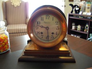 Copper Ships Bell Clock photo