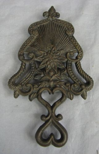 19th Century Order Of Cincinnati Cast Iron Trivet Not Repro photo