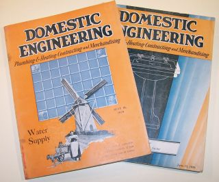 Rare Issues 1929 Domestic Engineering Magazines - Plumbing & Heating Contracting photo
