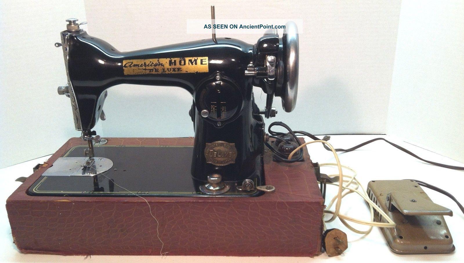 Antique American Home De Luxe Sewing Machine Precision Built De Luxe Japan Sewing Machines photo