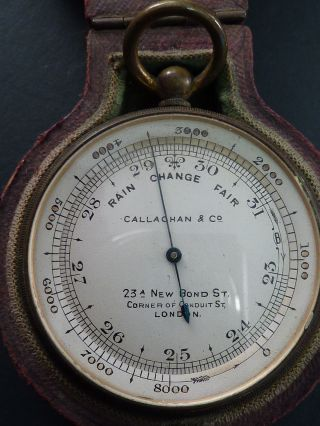 Edwardian Case Pocket Ballooning Barometer,  Callaghan & Co photo
