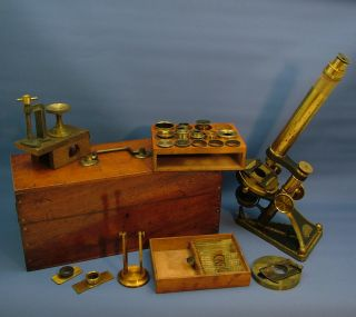 A Fine Cased Victorian Microscope,  By R.  & J.  Beck,  London. photo