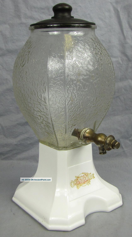 Antique Noggle ' S Orangeade Counter Top Dispenser Soda Fountain/drug Store Other photo