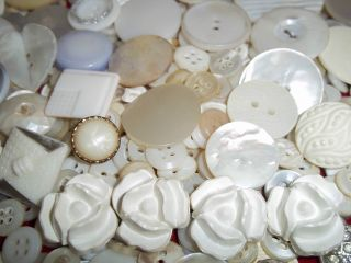 Estate Huge 1000 Plus Buttons Lots Vintage Rhinestone New Glass Antique Czech photo