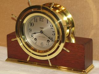 Seth Thomas Ships Wheel 44 Vintage Ships Bell Clock 1941 Same As Chelsea photo