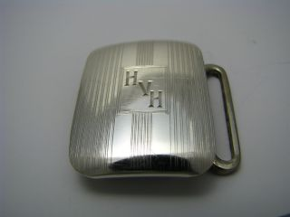 A Sterling Silver Belt Buckle 925 Silver Ca1930s Good Condition photo