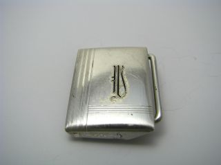 A Sterling Silver Belt Buckle 925 Silver By Hickok Ca1920s Good Condition photo