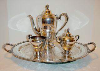 Star Rogers & Bros Antique Vintage Ornate Tea Coffee Service photo