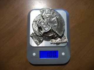 Ready To Melt.  925 Sterling Silver Scrap 100 Gram Or 3.  2 Troy Oz Lot 3 Clean photo