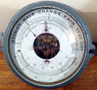 Vintage Schatz Ships Barometer Holosteric Compensated + Thermometer - Germany photo