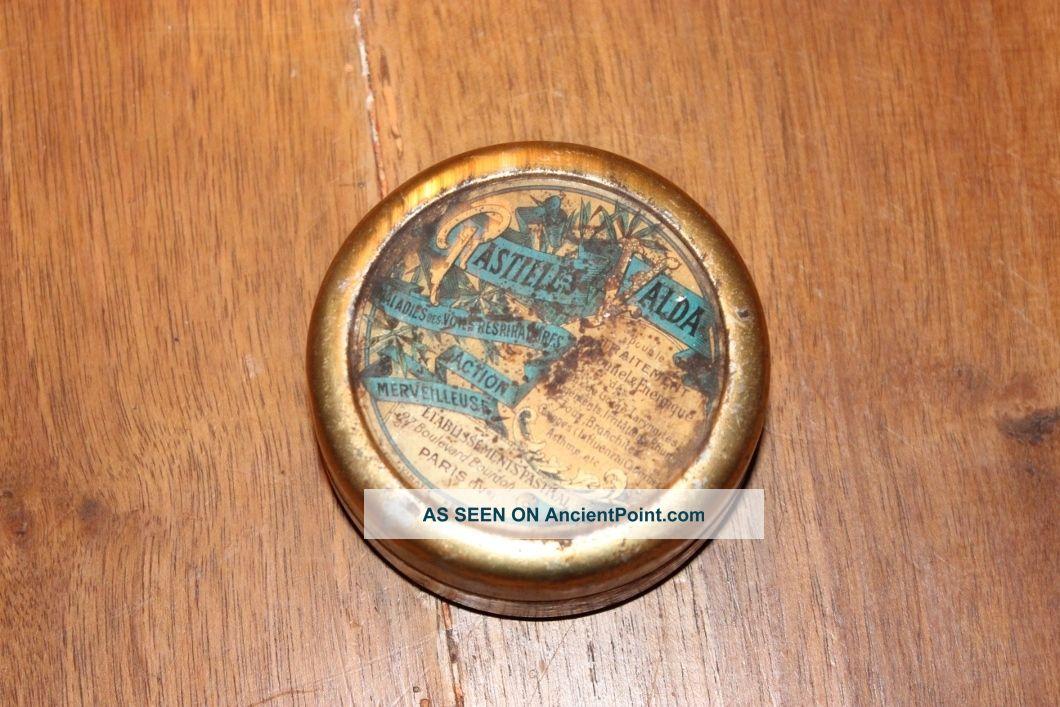 Antique French Tin Box Pastilles Valda 1920 ' S Other photo