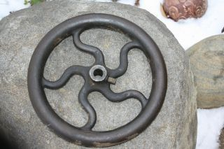 Antique Vintage Cast Iron Pulley Wheel Industrial Urban Loft Steampunk 12