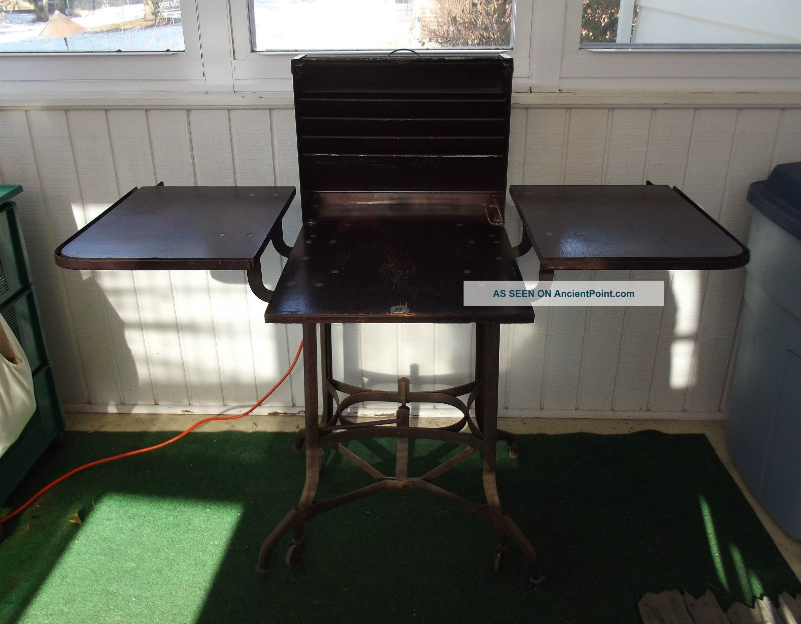 Vintage Industrial Uhl Toledo Typewriter Table Stand Cabinet Cart Or Liquor Bar Other photo