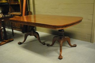 Chippendale Mahogany Table With Claw Foot photo