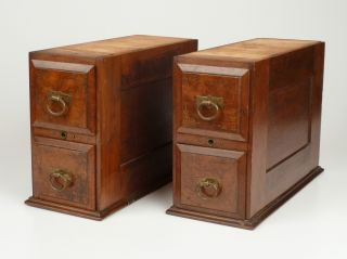Four Drawers With Cases From Household Treadle Sewing Machine Cabinet Table photo