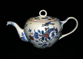 Antique French Faience Gien Cornucopia Pottery Teapot photo