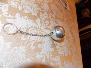 Antique Coin Silver Tea Ball Infuser photo