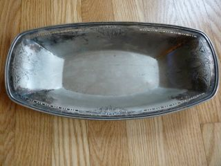 Epns (electro Plated Nickel Silver) 2359 Serving Tray/platter Antique photo
