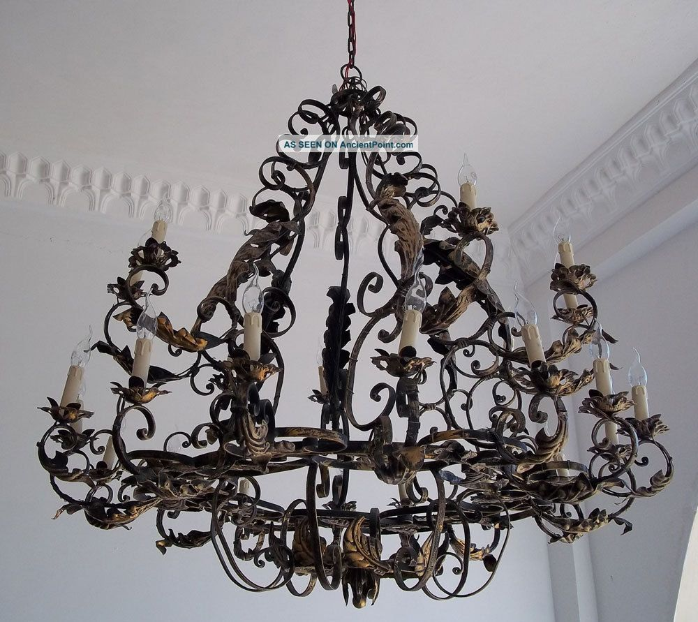 Watch more like Rustic Wrought Iron Lighting – Rustic Wrought Iron Chandelier