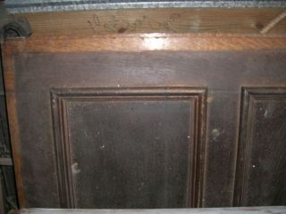 Tiger Oak Wood Panel Wainscot Architectural Antique 77