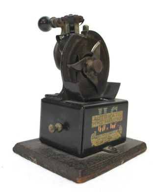 Antique 1908 Desktop Automatic Us Pencil Sharpener Perfect photo