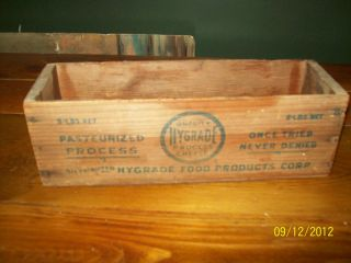 Antique Vintage Old Pauly Cheese Co.  Wood Box Pasteurized Process Food Product photo