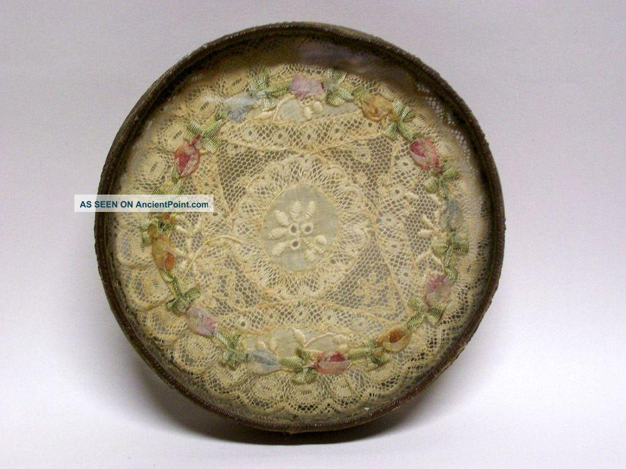 Victorian Edwardian Lace Dollie Glass Trivet Trivets photo