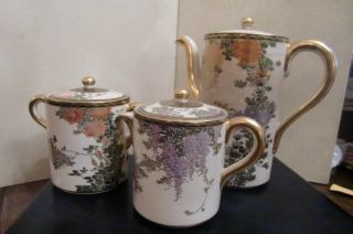 Circa 1910: Antique Chinese Porcelain Tea Set $240 photo