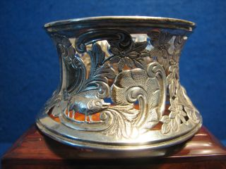 Victorian Chester Silver Serving Dish Ring Stand Borders Of Hogs & Foxes Game photo