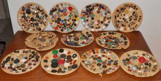 Antique Estate Button Collection Lot Rare - Glass - Metal - Victorian - Lacy B1 photo