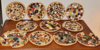 Antique Estate Button Collection Lot Rare - Glass - Metal - Victorian - Lacy B2 photo