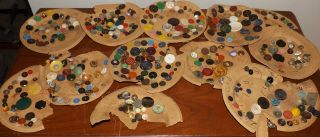 Antique Estate Button Collection Lot Rare - Glass - Metal - Victorian - Lacy B3 photo