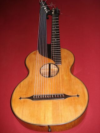 13 String Vienna Harpguitar - Michael Nowy / Franz Nowy - 9.  7.  1896 photo
