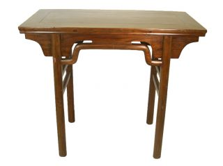 Chinese Antique Elm Wood Altar Table,  Ming Style photo