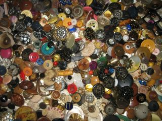 3 +lbs Antique/vintage Buttons Awesome photo