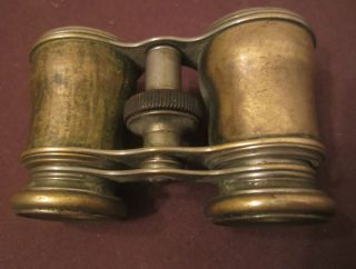 Antique Rare Old 1800 ' S Brass Adjustable Pocket Opera Glasses Binoculars Star photo