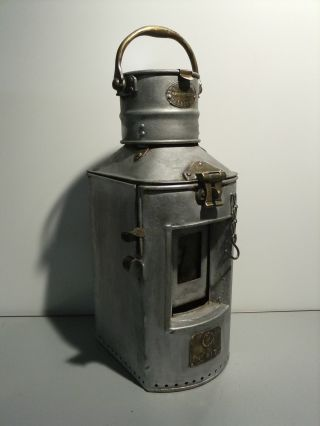 Antique M.  P.  Calloway Ltd.  Mfg.  Leith,  No.  817,  Ship Signal Lantern photo