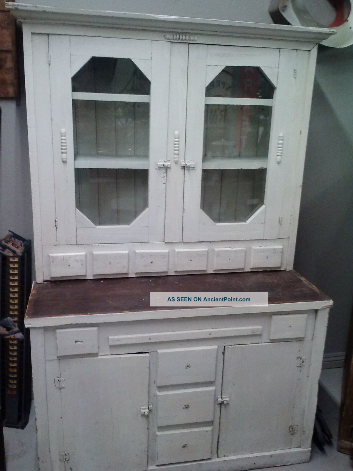 Antique Farmhouse Cabinet Primitives photo