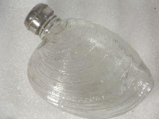 Antique Glass Flask Shell Design photo